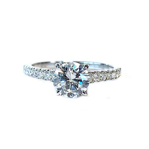 1.07CT. GIA CERTIFIED ROUND DIAMOND ENGAGEMENT RING