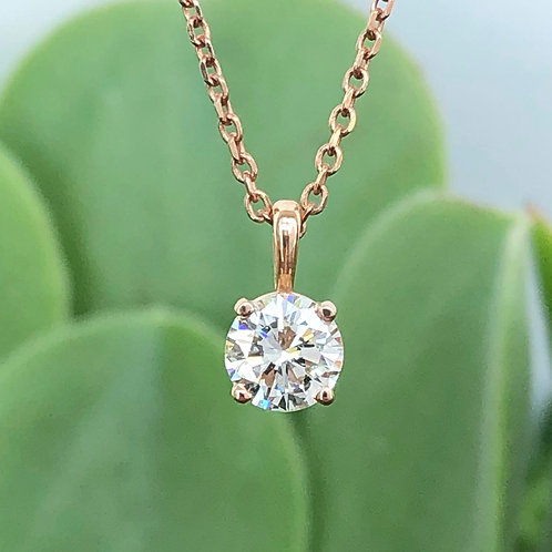 14KTRG 0.50CT. DIAMOND SOLITAIRE PENDANT