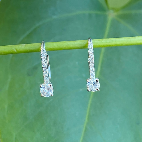 0.53CT. DIAMOND DROP EARRINGS