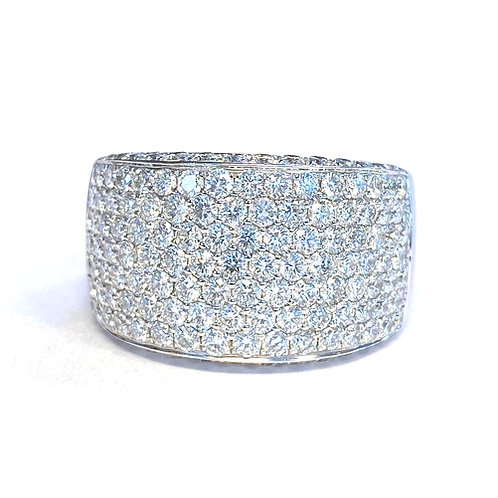 2.56CT. PAVE DIAMOND RIGHT HAND RING