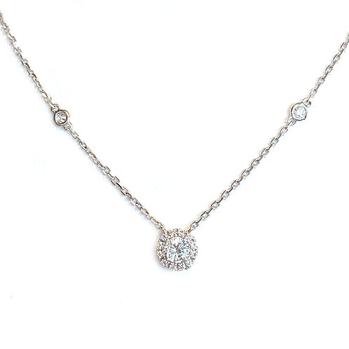 0.50CT. CLASSIC DIAMOND HALO NECKLACE