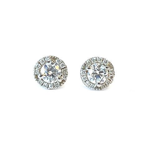 0.37CT. PETITE DIAMOND HALO STUD EARRINGS