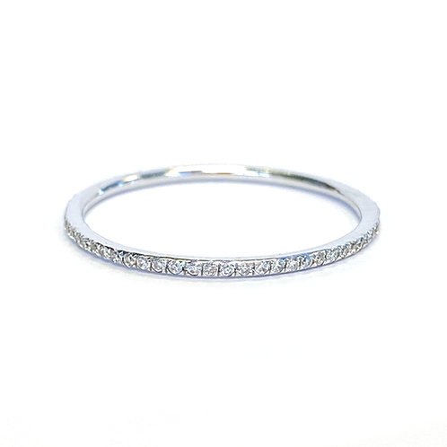 0.18CT. PETITE ROUND DIAMOND ETERNITY BAND SIZE 6.5