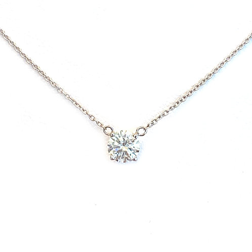0.50CT. CLASSIC 4-PRONG SOLITAIRE NECKLACE
