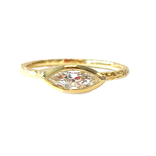 0.37CT. BEZEL STYLE DIAMOND STACKABLE RING