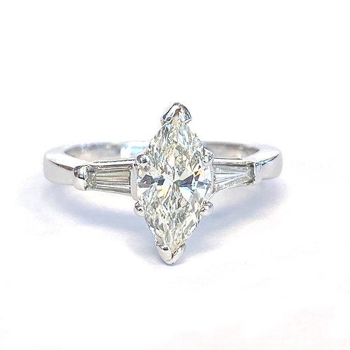 1.05CT. MARQUISE CUT DIAMOND PLATINUM RING