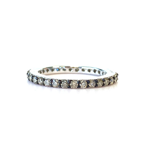 14KTWG CHAMPAGNE COLORED DIAMOND ETERNITY BAND SIZE 2.25