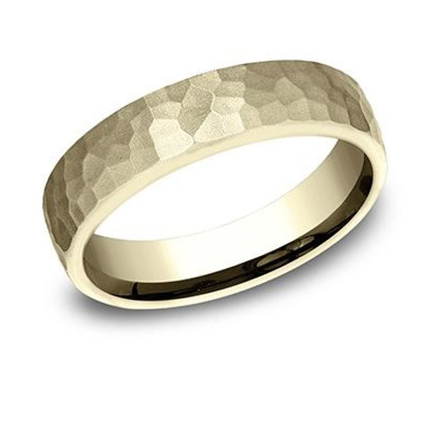 Benchmark® 5.5MM HAMMERED SATIN-FINISH EURO-COMFORT FIT MEN'S BAND SIZE 9