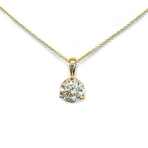 1.29CT. GIA ROUND DIAMOND SOLITAIRE PENDANT