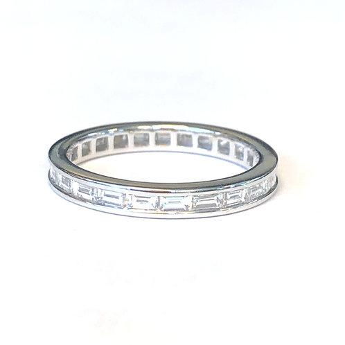 BAGUETTE CUT DIAMOND ETERNITY WEDDING BAND