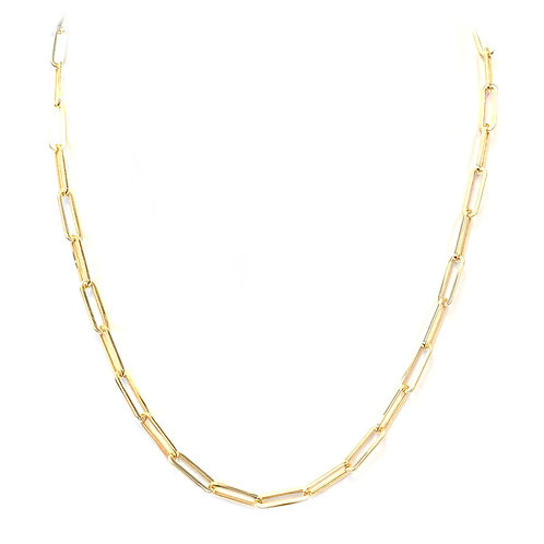 """14KT YELLOW GOLD PAPERCLIP CHAIN 18"""""""