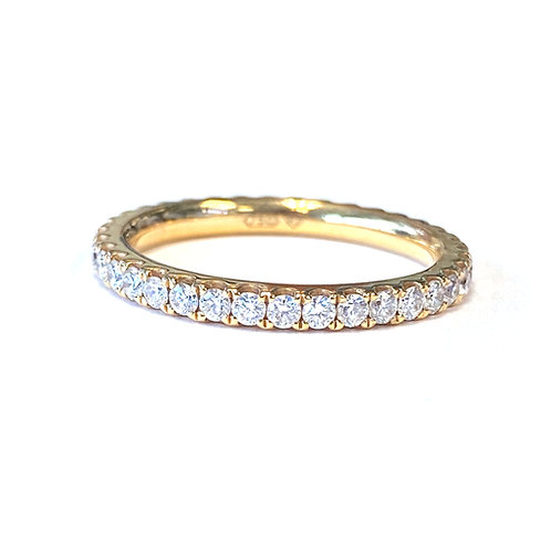 0.80CTTW. CLASSIC ROSE GOLD DIAMOND ETERNITY BAND SIZE 6.5