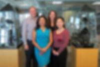 Our current salespersons, Jessica James, Sandra Artiga, Ben Baum, Vivien Lin