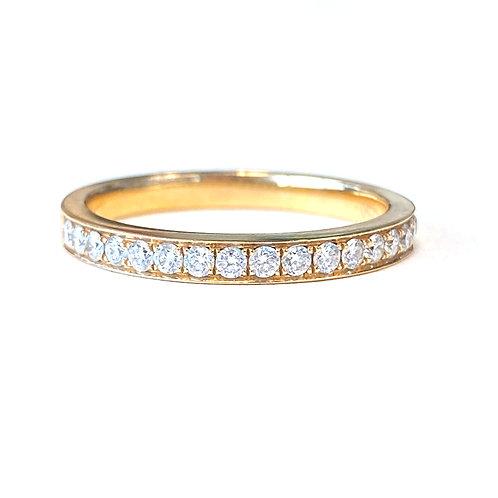 ROSE GOLD BEAD SET DIAMOND BAND