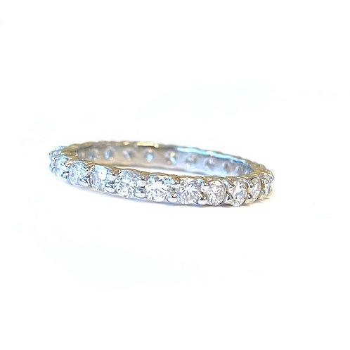 1.13CTTW. ROUND DIAMOND ETERNITY BAND SIZE 6