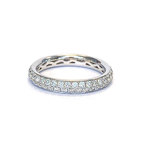 1.26CTTW. PAVE DIAMOND ETERNITY BAND