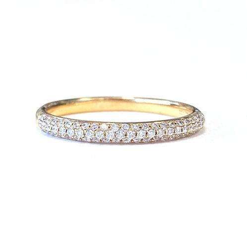 TRIPLE ROW MICROPAVE DIAMOND WEDDING BAND