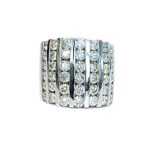 14KTWG 5.00CT. DIAMOND RIGHT HAND RING