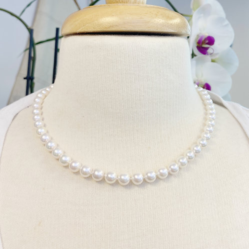 7-7.5MM JAPANESE AKOYA PEARL NECKLACE 17""