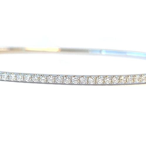0.54CTTW. CLASSIC SINGLE LINE DIAMOND BANGLE IN 18KTWG