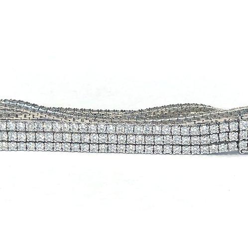 6.64CT. MULTI STRAND DIAMOND TENNIS BRACELET