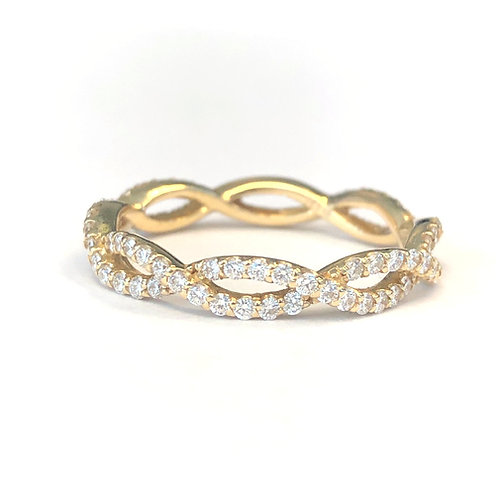 INFINITY TWIST DIAMOND BAND
