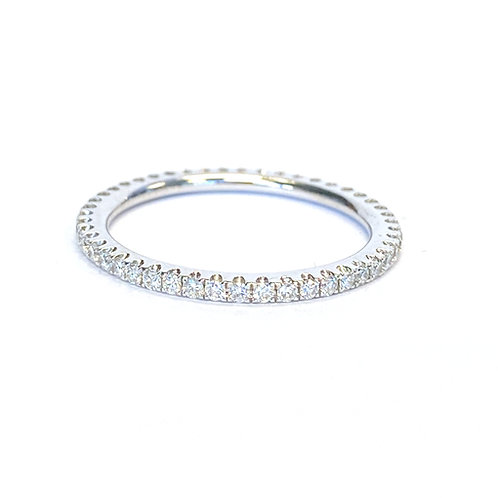 0.41CTTW. ROUND DIAMOND ETERNITY BAND SIZE 6.5