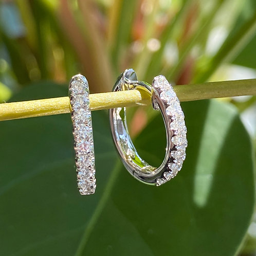 0.36CT. WHITE GOLD DIAMOND HOOP EARRINGS