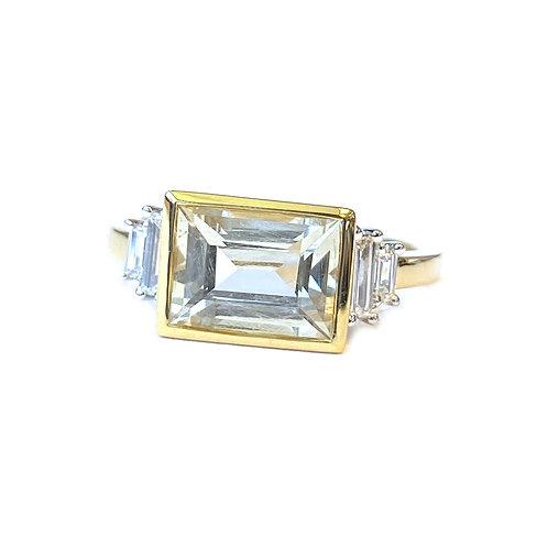 RARE GEM!! 2.24CT. GIA CERTIFIED JEREMEJEVITE & DIAMOND RING