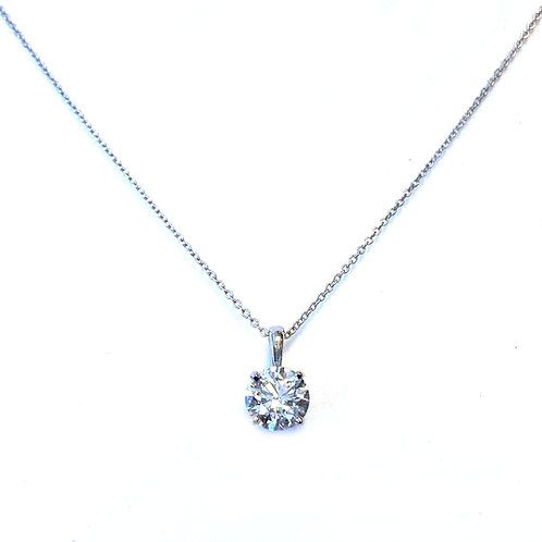 0.70CT. D SI1 GIA ROUND SOLITAIRE PENDANT 14KTWG