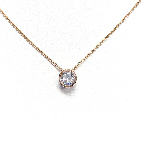0.43CT. ROUND DIAMOND PENDANT IN ROSE GOLD