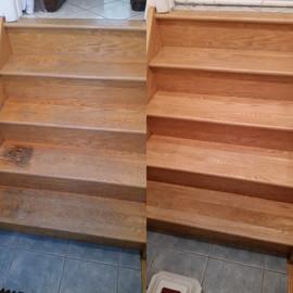 Oak stair refinishing