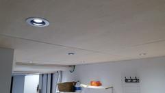 Baltic birch plywood ceiling