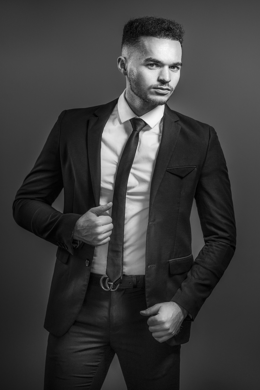 Portrait, Homme, Studio