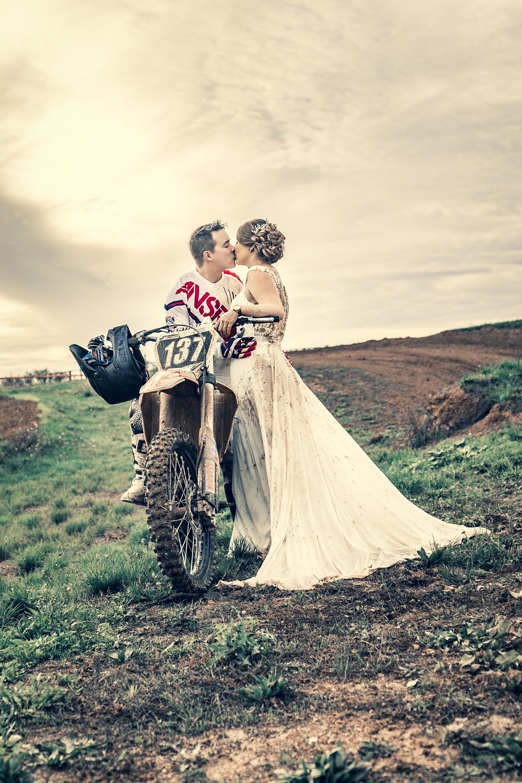 Mariage, France, Marne, Moto