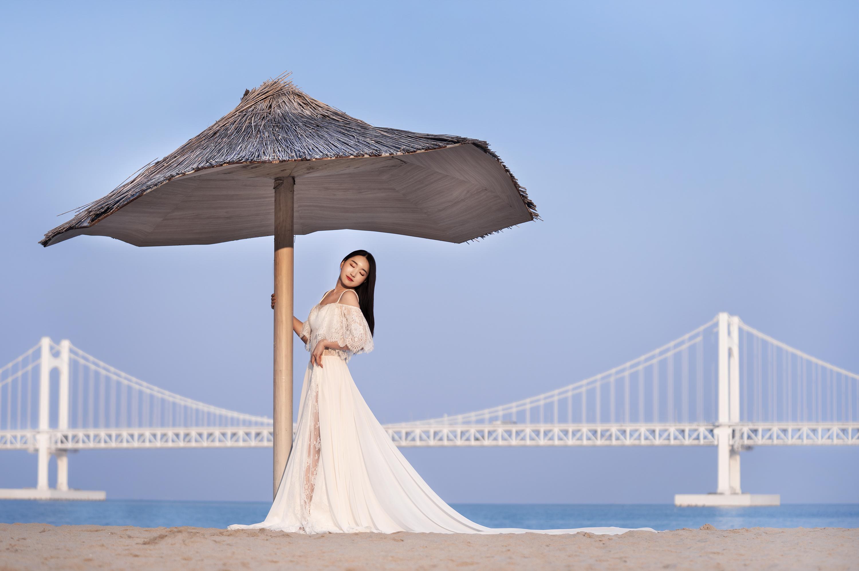 mariage, plage , Corée