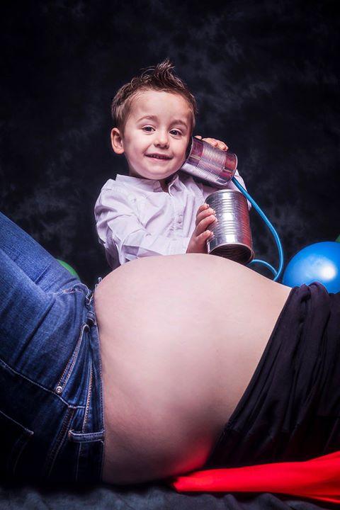 photo grossesse, enfant, famille