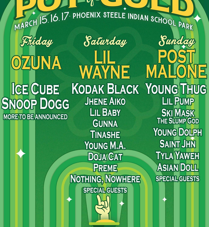Pot Of Gold 2019 Festival Lineup