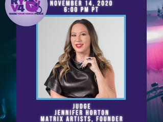 Jennifer Horton Judging on Raise Your Voice For Peace