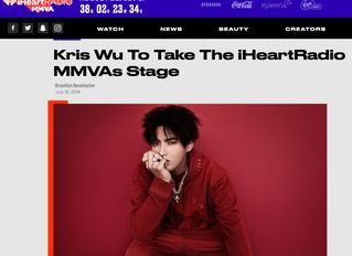 iHeartRadio Announces Kris Wu Will Perform at 2018 MMVAs
