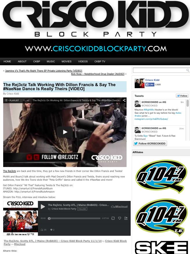 Rej3ctz x Crisco Kidd Block Party