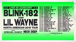 lilwayne blink182 tour flier