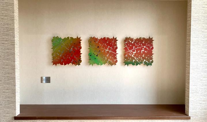 壁面オブジェ 「秋」 ‐紅葉‐