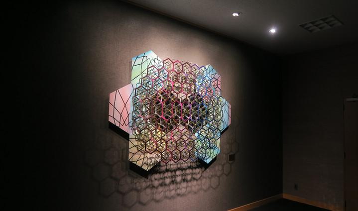 壁面オブジェ 「冬」 ‐結晶・亀甲‐