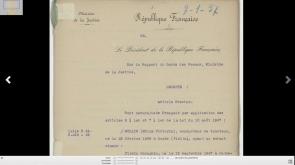 Les décrets de naturalisation sont en ligne aux Archives Nationales