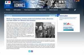 Une nouvelle base des victimes des nazis sur Mémoire des Hommes