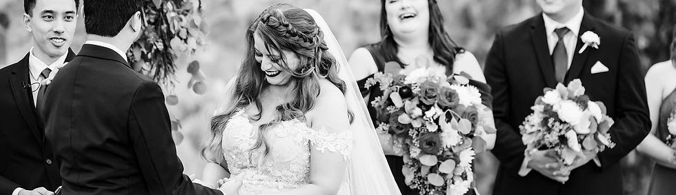 Bella Collina bride at her wedding after getting hair and makeup by Bridal by OUAB