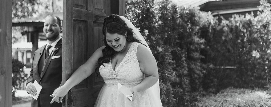 Bride on her wedding day at Club Lake Plantation Apopka, Florida after getting hair and makeup done by the Bridal by OUAB team