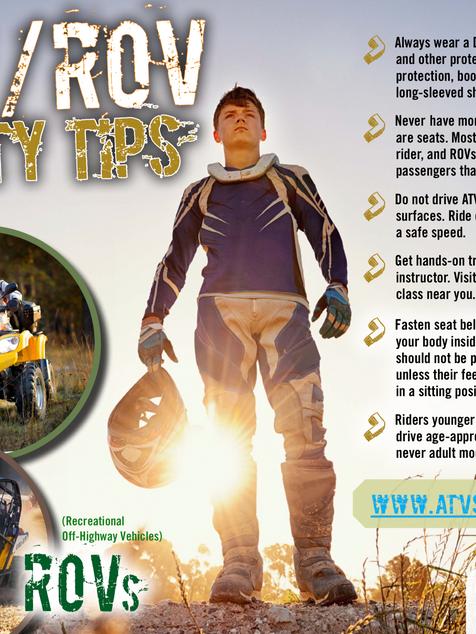 ATV ROV Safety Tips
