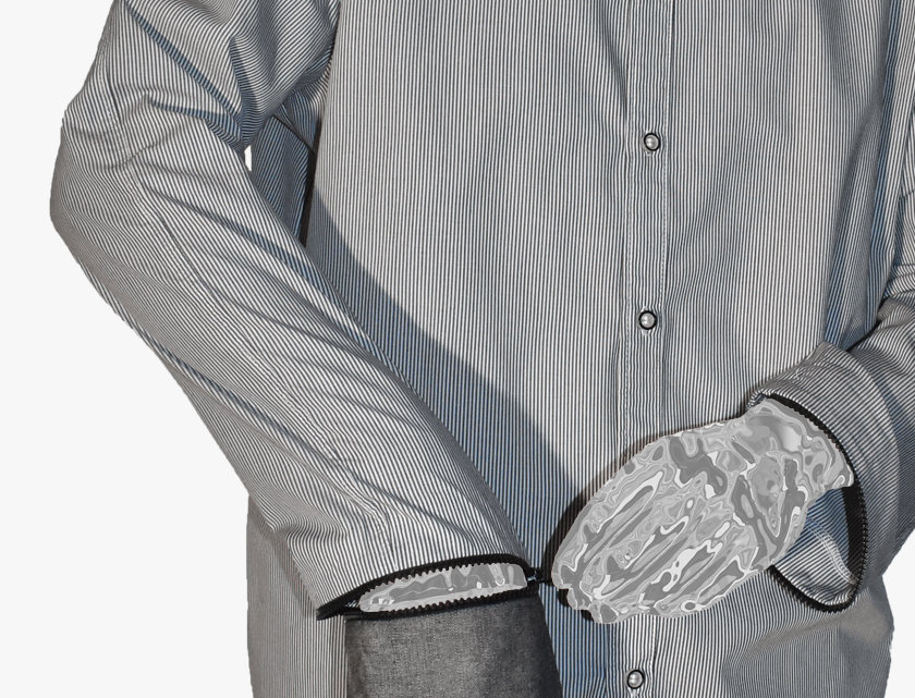 Shirt with Extended Detachable Sleeves